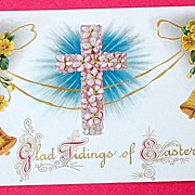 Vintage 1909 H. Wessler  Embossed Easter Post Card