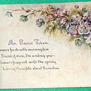 1908 An Easter Token Postcard #806 D