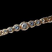 REDUCED Vintage 14K Gold Diamond Bracelet