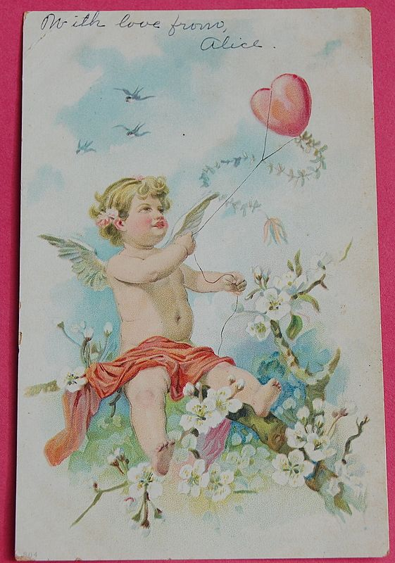 1907 Cupid Valentine Card
