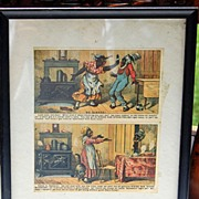 SOLD Vintage Two Framed Rising Sun Stove Polish Trade Cards