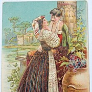 Vintage Romantic Post Card