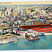 Vintage Postcard Aerial View Of New America's Most Interesting City