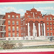 Vintage 1917 Postcard Hotel Dieu Hospital Beaumont Texas