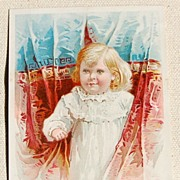 REDUCED 1892 Victorian Mellin's Food Trade Card