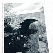 1941 Real Photo Postcard Arch Bridge Haag Grist Mill Angels Pa.