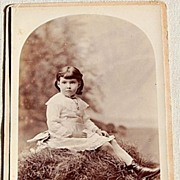 SOLD Victorian Real Photo Cabinet Card Beautiful Child San Francisco