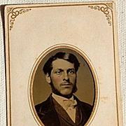 SALE Victorian Antique Tin Type Photo Handsome Man