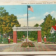 1945 Entrance To Central Louisiana State Hospital Alexandria Louisiana