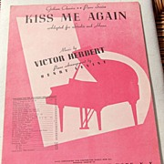 "SOLD Vintage Sheet Music ""Kiss Me Again"""