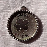 Vintage Silver Plate Good Luck Charm