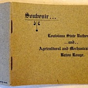 SALE Vintage Soubenir Booklet Louisiana State University & Agricultural & Mechanical College B