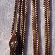 REDUCED Vintage Gold Filled Slide Chain 10K Gold Slide