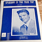 "1951 Vintage Sheet Music ""Sparrow In The Tree Top"" Guy Mitchell"