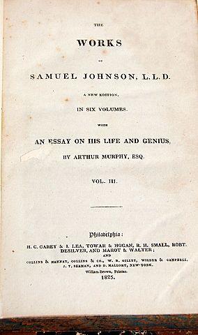 1825 Volume III The Works Of Samuel Johnson, L. L. D.