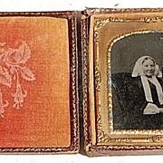 Victorian Daguerreotype Woman In Bonnet