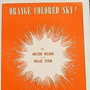 """SALE 1950 Vintage Sheet Music """"Orange Colored Sky!"""""""