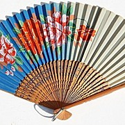Vintage Made In Occupied Japan Hand Fan