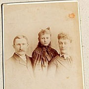 SALE Vintage Cabinet Photo Card Family Photo