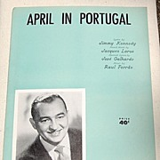 SALE 1953 Vintage Sheet Music April In Portugal