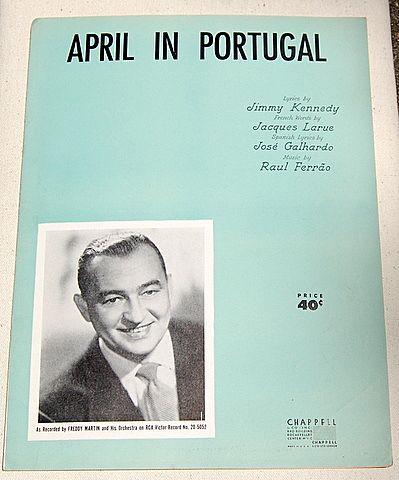 1953 Vintage Sheet Music April In Portugal