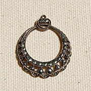 REDUCED Art Deco German Sterling Silver Marcasite Pendant