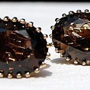 Vintage Vermeil  Smokey Quartz Earrings