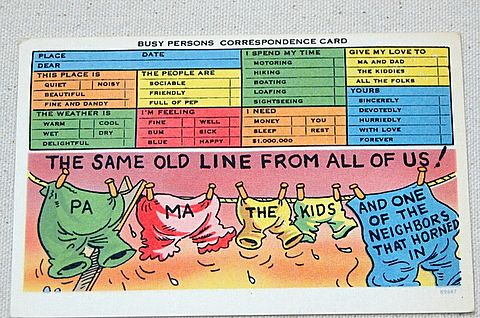 Vintage Busy Persons Correspondence Post Card #89987