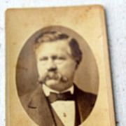 Victorian Cabinet Card Man With Mustache Boston