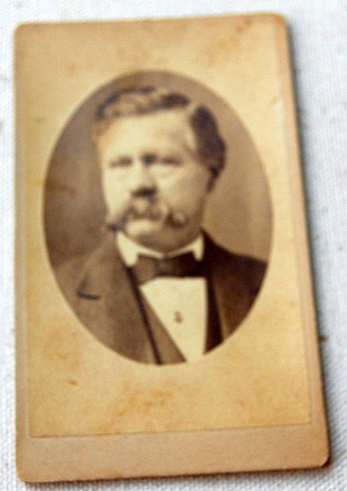 Victorian Cabinet Card Man With Mustache Boston