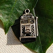 Vintage Sterling Silver Slot Machine Charm Gambling
