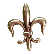 REDUCED Victorian 14K Gold Fleur D Lis Watch Pin/Brooch