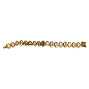Edwardian Gold Filled Flexible Portrait Link Bracelet
