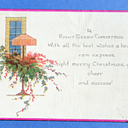 Art Deco Christmas Postcard