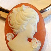 Vintage Unframed Faux Cameo