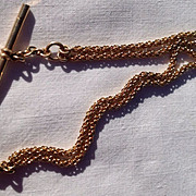 Vintage Gold Watch Chain