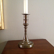 Vintage English Brass  Push Up Candlestick