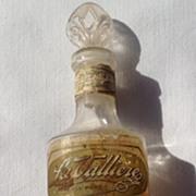 Vintage La Valliere Eau De Cologne Bottle New Orleans