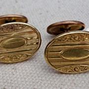 Vintage Gold Filled Cuff Links