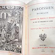 SOLD 1885 French Prayer Book