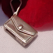 Vintage Sterling Silver Clutch Purse Charm