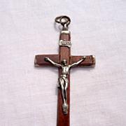 Vintage Hand Carved Oak Wooden Cross
