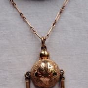 REDUCED Victorian Gold Filled Pendant