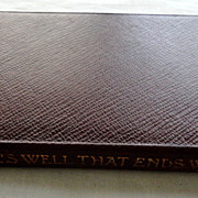 SOLD 1906 The Temple Shakespeare's All's Well That Ends Well