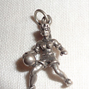 Vintage Sterling Silver Female Basketball Player Charm