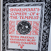 SALE 1912 The Temple Shakespeare's  Comedy Of The Tempest