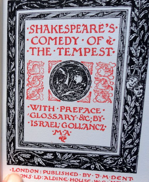 1912 The Temple Shakespeare's  Comedy Of The Tempest