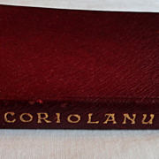 SALE 1909 The Temple Shakespeare's Tragedy Of Coriolanus