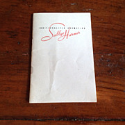 1940's Sallye Harmer Individualized Cosmetics Booklet