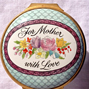 "REDUCED Halcyon Days Enamel ""Mothers Day"" Box"